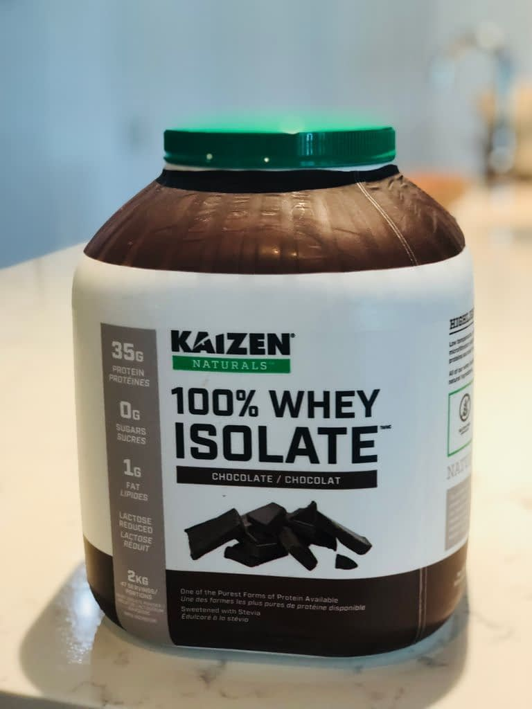 There are lots of good ones but we use this one with 35 g of protein from Costco