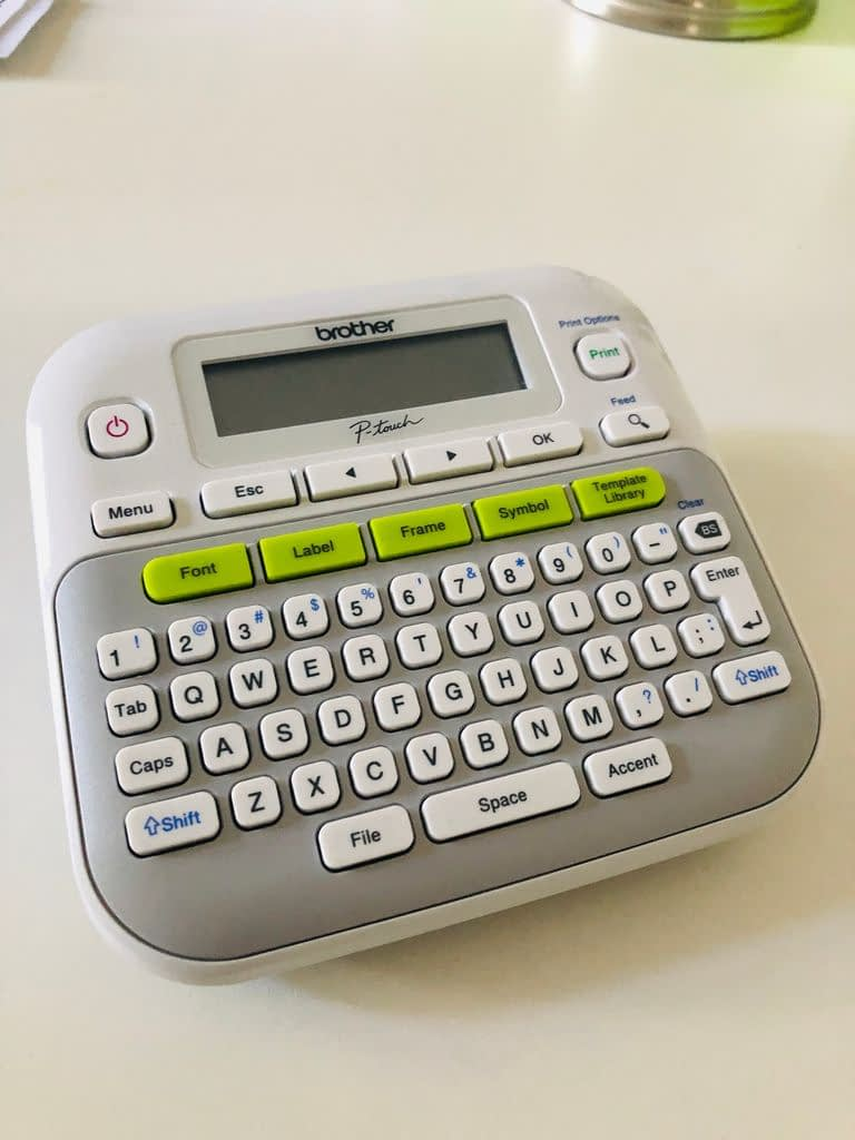 This P-Touch PT-D210 label-maker which I got on Amazon is helping me get my office organized.