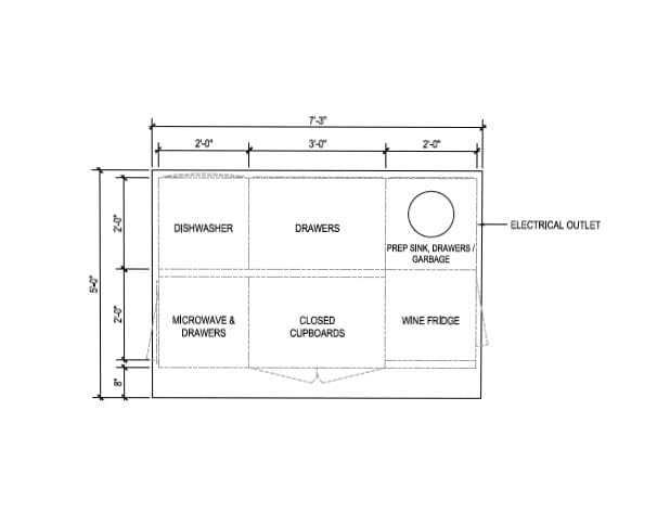 This is the layout of our kitchen island