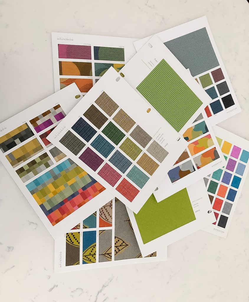 Pull together colours and decide what works in your home.