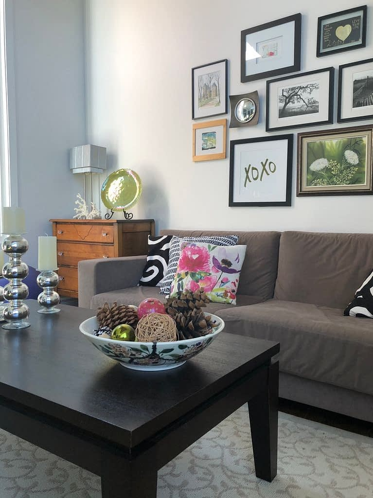 This is the summery version of our living room that I felt needed a fall refresh