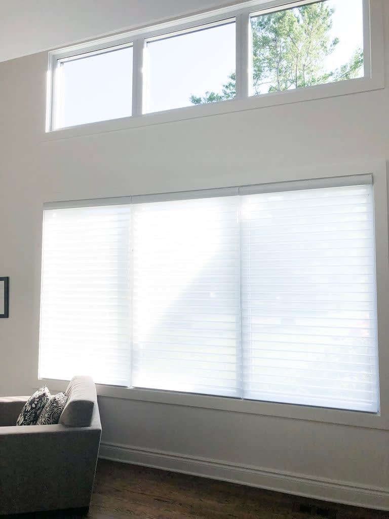 Front window with blinds from Blinds to Go