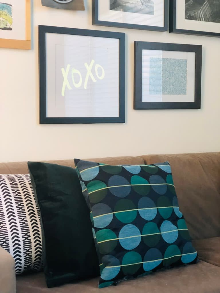 These pillow covers from @Ikea were a great inspiration for the fall transformation