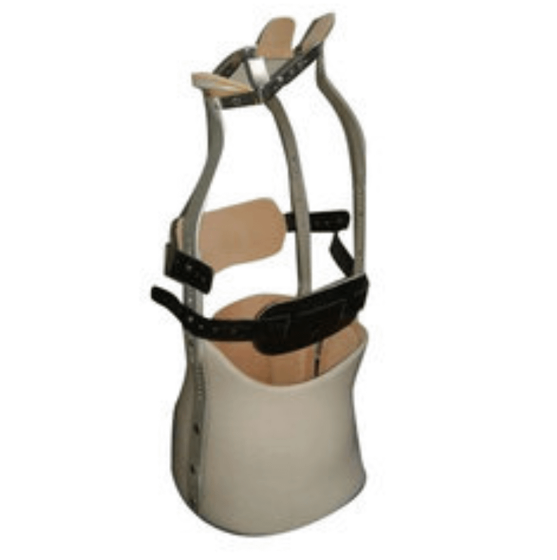 Here is an image of one similar to the Milwauki Backbrace that I wore for 2 years, 23 hours a day.