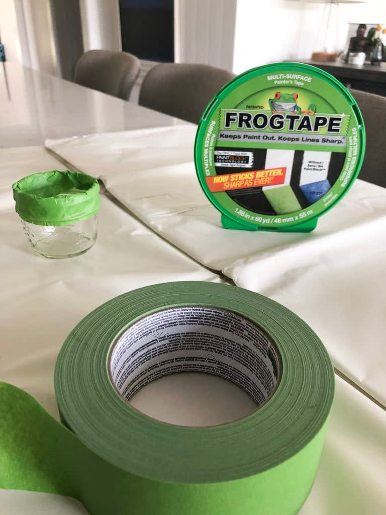 Frog Tape for taping off the vases