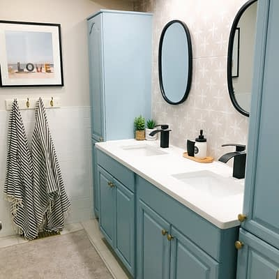 ORC Week Eight Final Reveal:  Coastal Family Bathroom