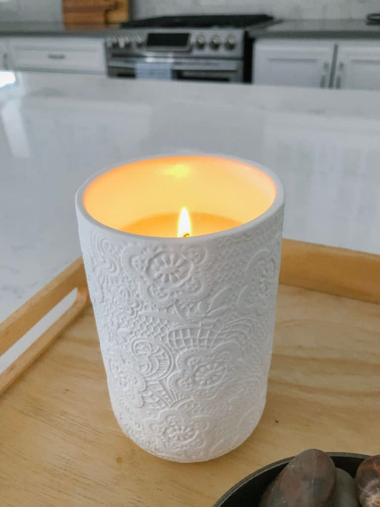 A candle brings a lovely warmth to a room and sets the atmosphere