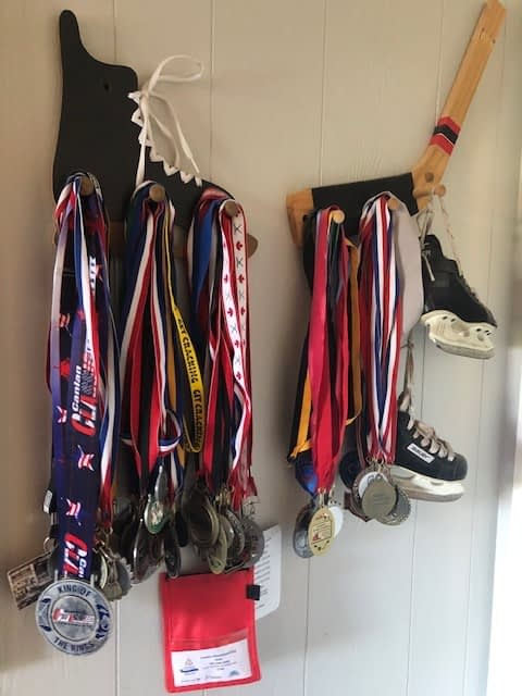 It was time for these hockey medals to go also