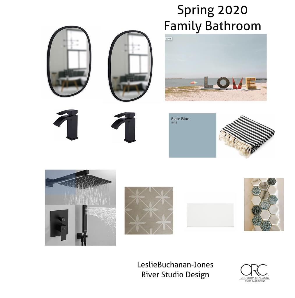 The Design Plan for our coastal feeling family bath