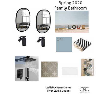 One Room Challenge Week Two: The Design Plan For A Coastal Feeling Family Bathroom