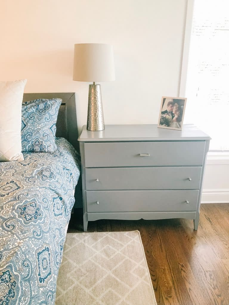 This small dresser works perfectly as a night table for my husband, so it is staying